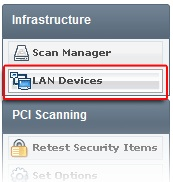 Menuitem LAN Devices