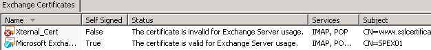 Exchange 2010 - Installeren SSL certificaat via Shell