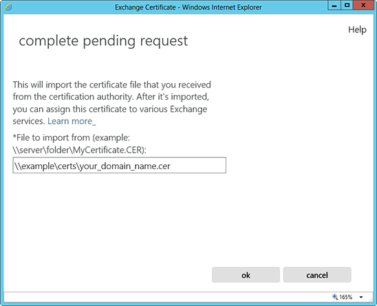 Exchange 2013 Installeren SSL Certificaat