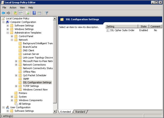 IIS - Instellen TLSv1 2