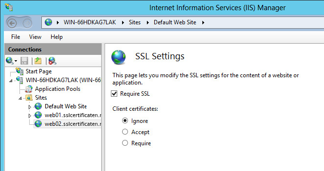 IIS - Server Name Indication