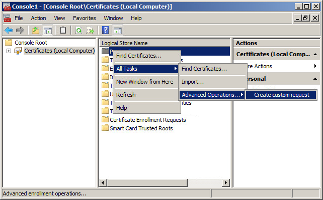 mmc csr Learn how to generate a csr for a code signing certificate.