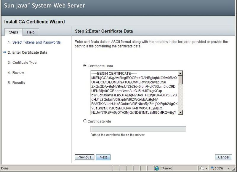 Sun Java System Web Server 7.x - Installeren SSL Certificaat