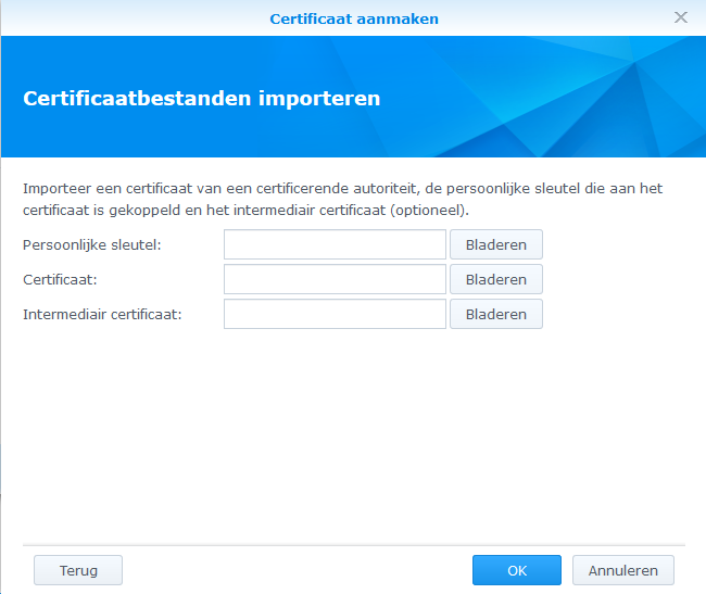 Synology DSM6 - Installeren SSL Certificaat